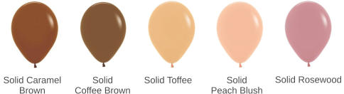 Solid Toffee Solid Coffee Brown Solid Caramel Brown Solid Peach Blush Solid Rosewood