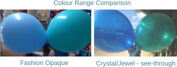 Fashion Opaque Crystal/Jewel - see-through Colour Range Comparison